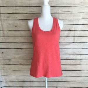Madewell Coral Colored Whisper Tank Top